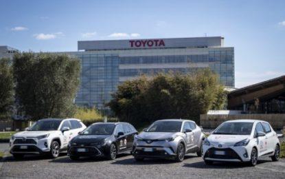Toyota con la Croce Rossa Italiana per aiutare l'Italia