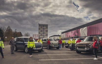 Coronavirus: una flotta Jaguar e Land Rover a sostegno dei partner umanitari