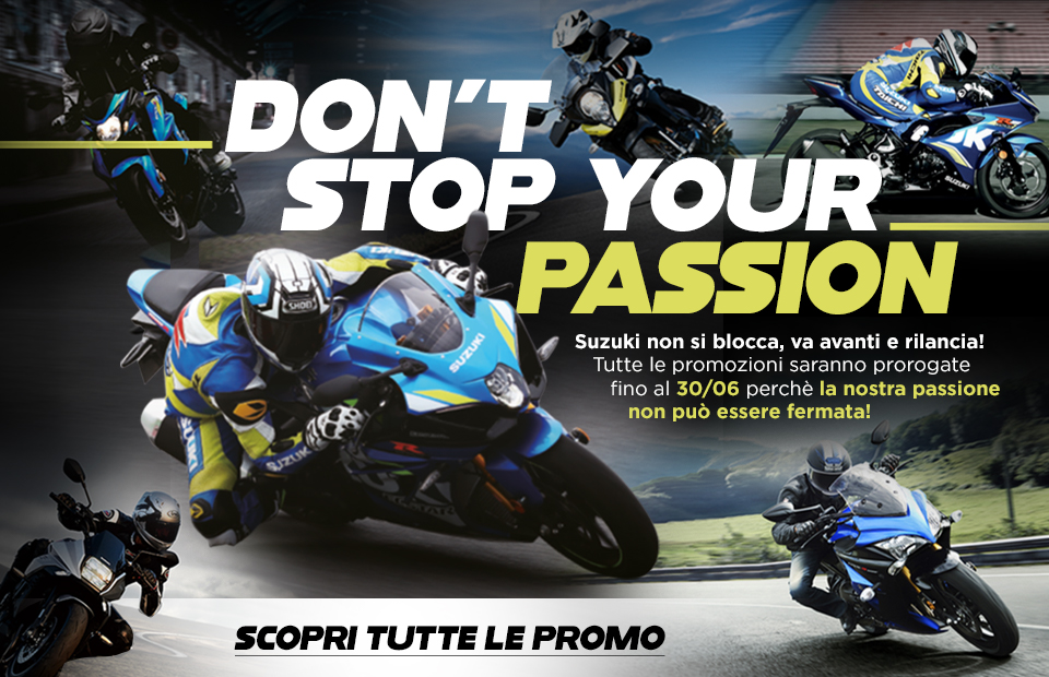"Suzuki lancia ""Don't Stop Your Passion"""