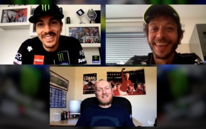 Intervista esclusiva ai piloti Yamaha Valentino Rossi e Maverick Viñales
