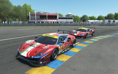 Tre Ferrari alla 24 Hours of Le Mans Virtual. Con Leclerc e Giovinazzi