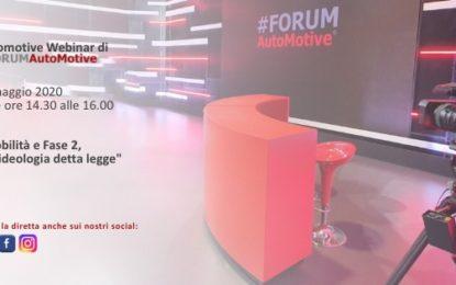 #FORUMAutoMotive: Mobilità e Fase 2, se l'ideologia detta legge
