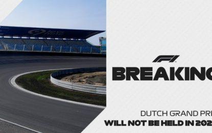 GP d'Olanda rinviato al 2021