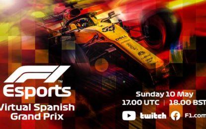 Domenica su Sky Sport F1 l'eSports Virtual GP di Spagna