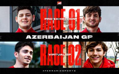 Virtual Azerbaijan GP con Leclerc, Fittipaldi, Tonizza e Bonito