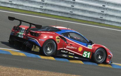 Ferrari in pista nelle prime libere virtuali a Le Mans