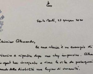 Il papa scrive a Zanardi tramite la Gazzetta dello Sport