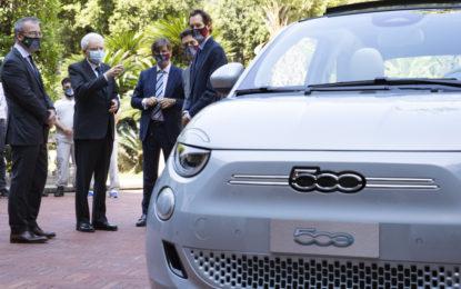 Nuova Fiat 500 debutta al Quirinale e a Palazzo Chigi