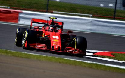 Gran Bretagna: venerdì con Leclerc 4° e tanti problemi per Vettel