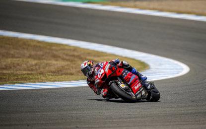 Podio per Dovizioso a Jerez. Per Ducati a punti anche Petrucci