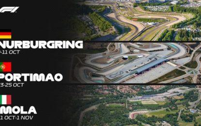 F1: entrano Nurburgring, Portimao e Imola. Niente Brasile, USA, Messico e Canada