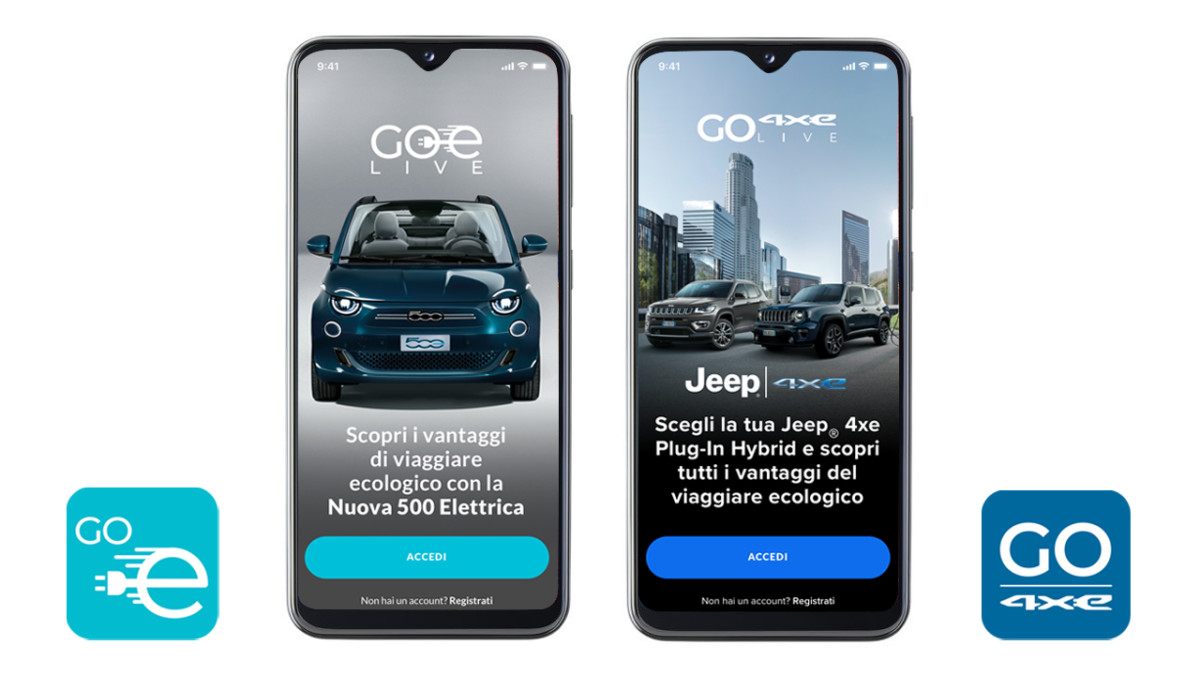 "e-Mobility by FCA lancia le nuove app ""GOe"""