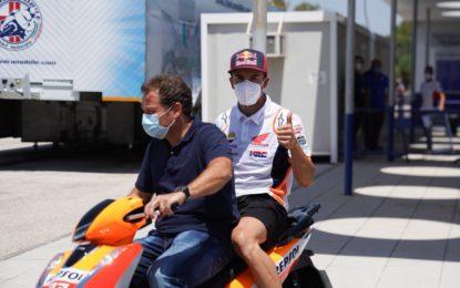 Pazzesco! Marquez in pista nel GP di Andalusia. Anche Rins e Crutchlow