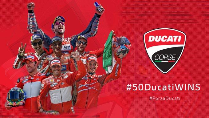 Le 50 vittorie Ducati in MotoGP
