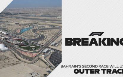 """Bahrain: il Sakhir Grand Prix si correrà sulla """"pista esterna"""""""