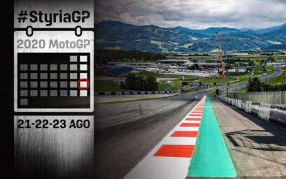 MotoGP: gli orari in TV del weekend del GP di Stiria