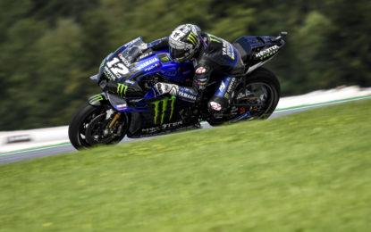 MotoGP: pole di Vinales in Austria, seguito da Miller, Quartararo e Dovizioso. Rossi 12°