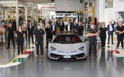 Lamborghini festeggia la Aventador numero 10.000