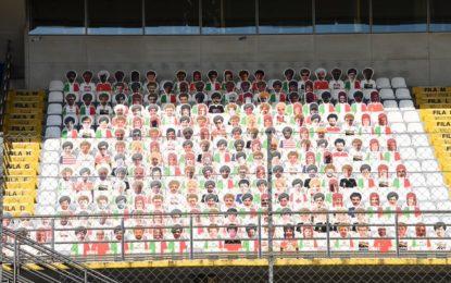 Face For Fan: quasi 1000 tifosi in tribuna a Monza. Inclusi Vettel e Leclerc