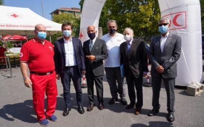 A Bergamo il tributo FIA e ACI alla Croce Rossa per l'impegno durante la pandemia