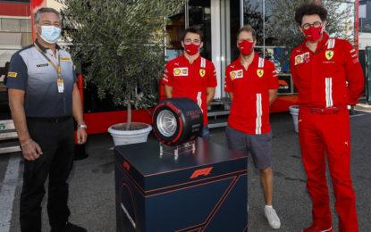 Da Pirelli un pneumatico celebrativo per i 1000 GP Ferrari