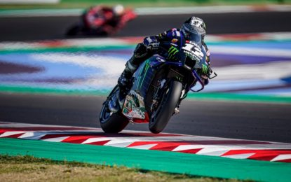 MotoGP: a Misano Viñales davanti a Mir e Pol Espargaro. Ritiro per Rossi. Dovi sempre in testa