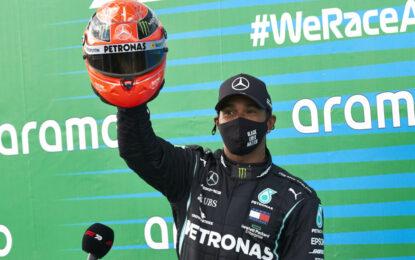 Eifel: Hamilton eguaglia il record di Schumacher. Sul podio Verstappen e Ricciardo