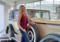 Natasha Stefanenko in visita al Museo Nicolis