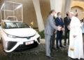 Una Toyota Mirai a idrogeno per Papa Francesco