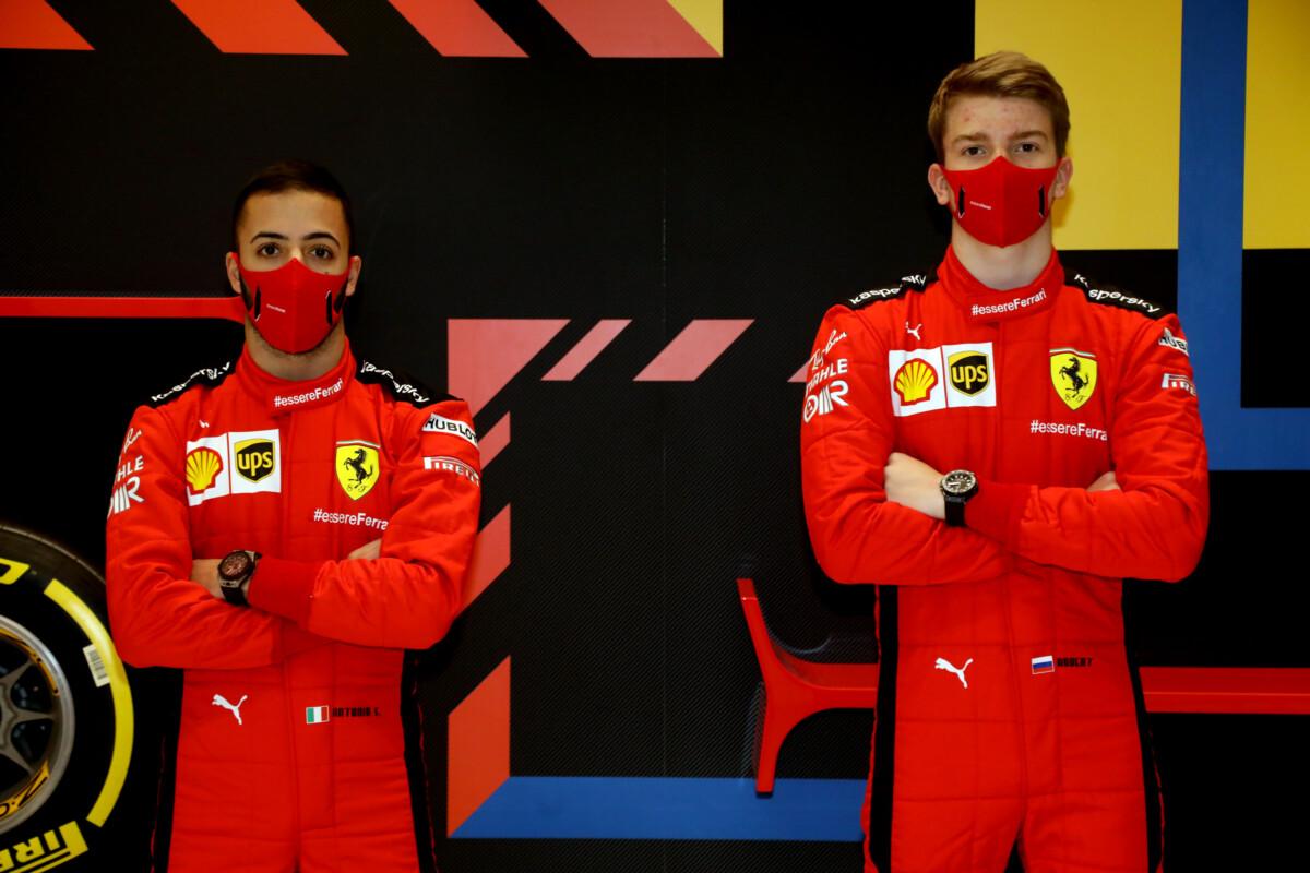 Shwartzman e Fuoco allo Young Driver Test di Abu Dhabi sulle SF1000