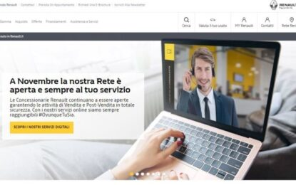 A novembre Rete Renault Italia aperta