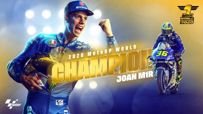 Joan Mir campione del mondo MotoGP 2020