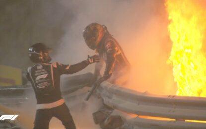 Grosjean: l'incidente, il fuoco, il miracolo del Bahrain