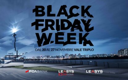 Black Friday Week: tre offerte speciali FCA Bank, Leasys e Leasys Rent