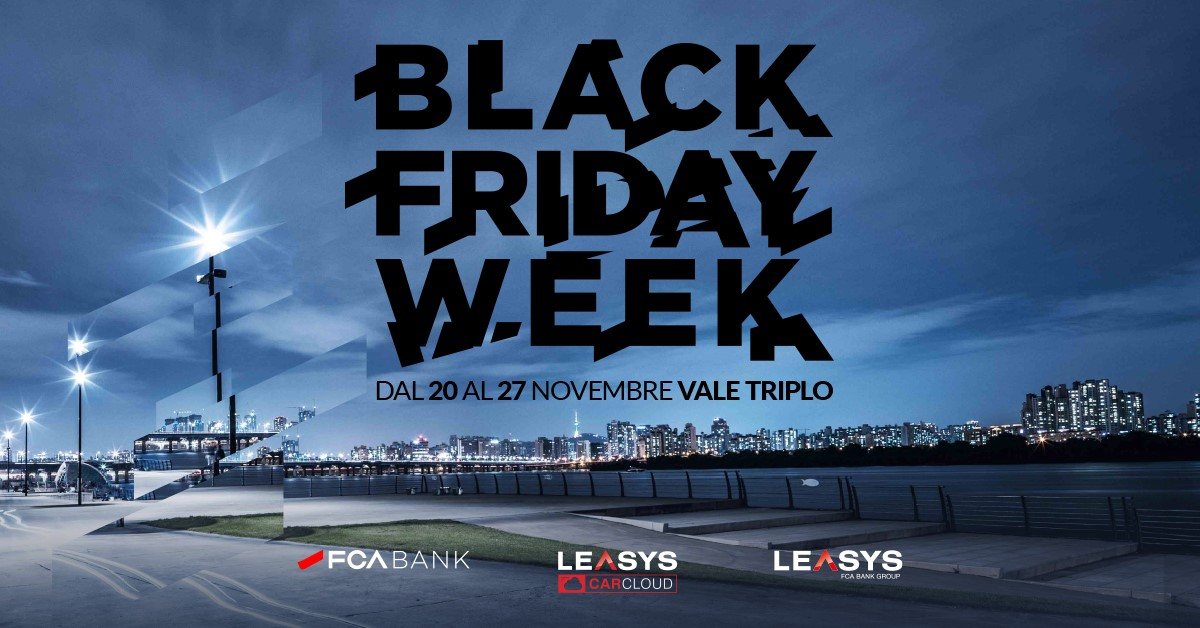Black Friday Week: tre offerte speciali FCA Bank, Leasys e Leasys Rent