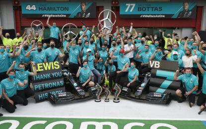 PETRONAS e Team Mercedes-AMG F1: i numeri del successo