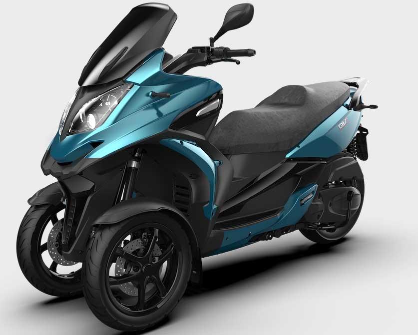 Qooder QV3 leader in Italia tra gli scooter a 3 ruote 350 cc