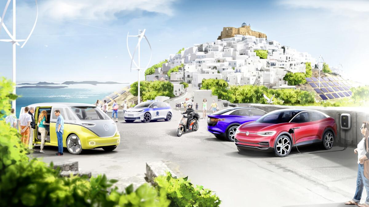Volkswagen e Grecia: un'isola modello per la mobilità a impatto zero