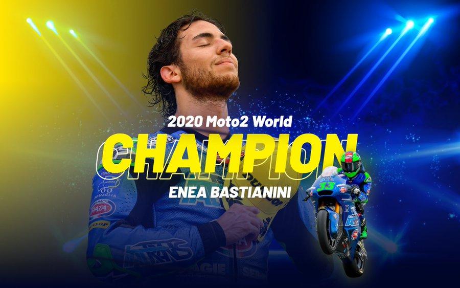 Enea Bastianini campione Moto2 2020