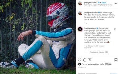 Hamilton, Grosjean e Alonso incoraggiano Russell