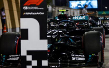 A Sakhir pole di Bottas, poi Russell, Verstappen e Leclerc