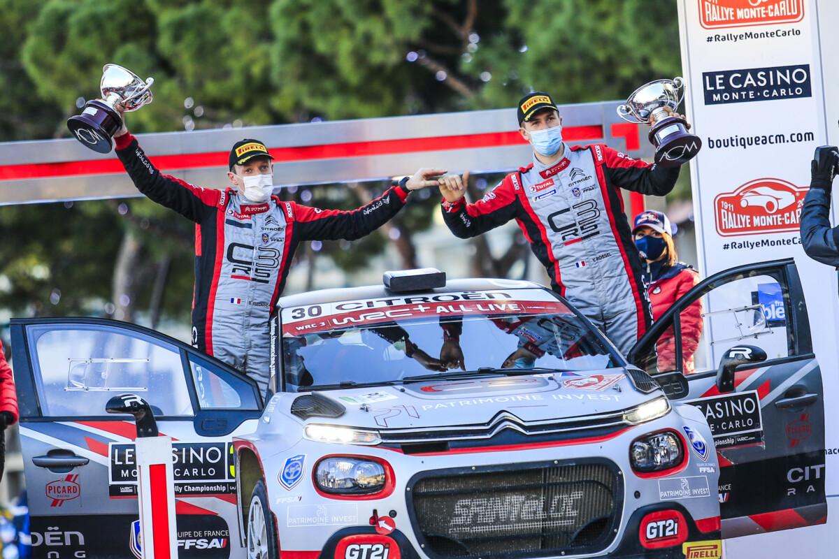 La C3Rally2 domina il WRC3 a Monte Carlo