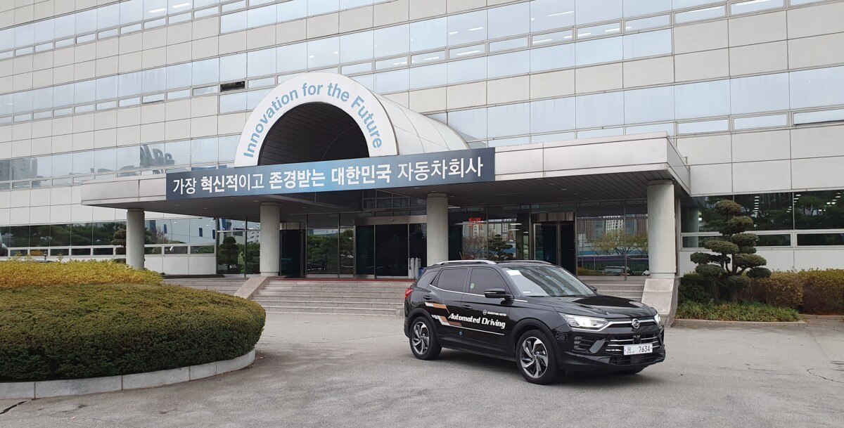 SsangYong Korando: test su strada con guida autonoma