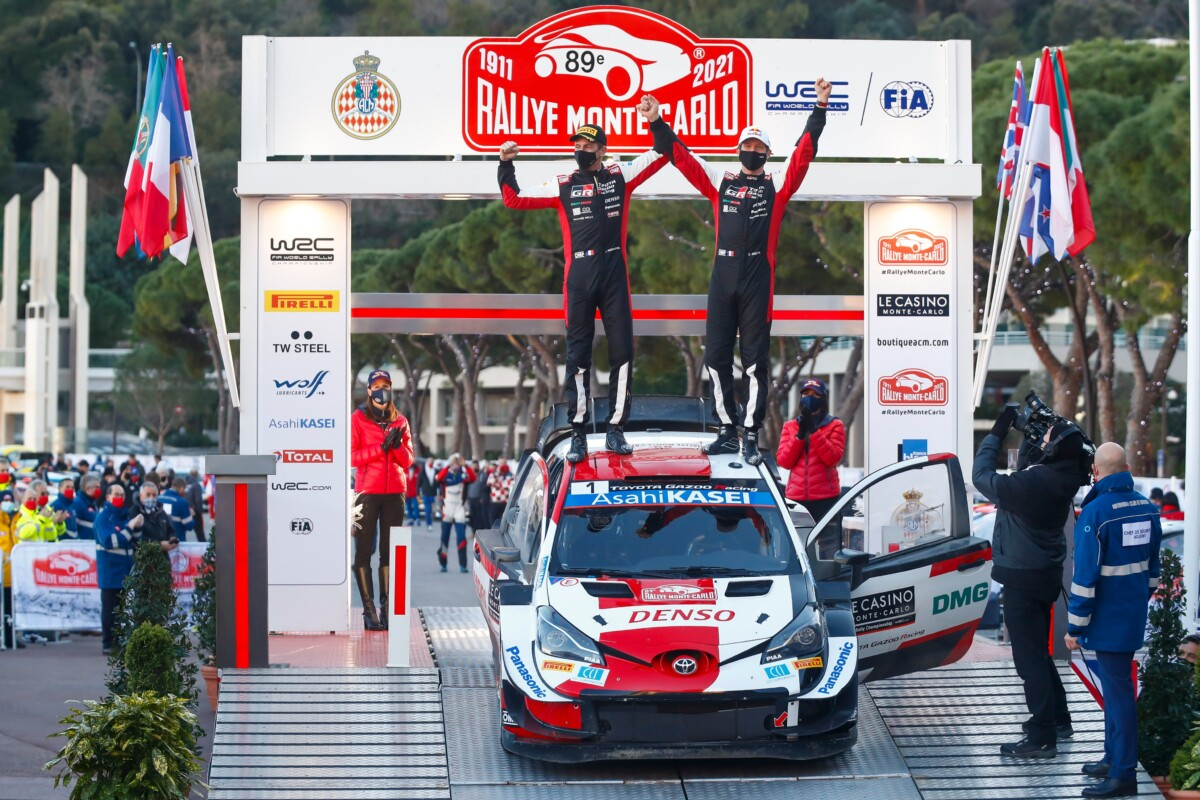 Ogier claims record eighth Monte-Carlo win in Toyota Yaris WRC 1-2