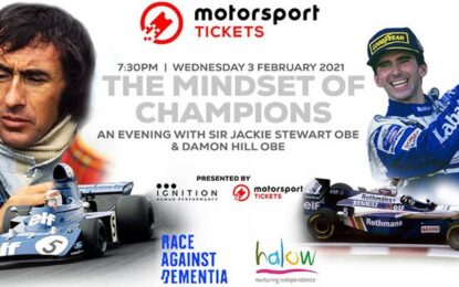 The Mindset of Champions: serata per beneficenza con Sir Jackie Stewart e Damon Hill