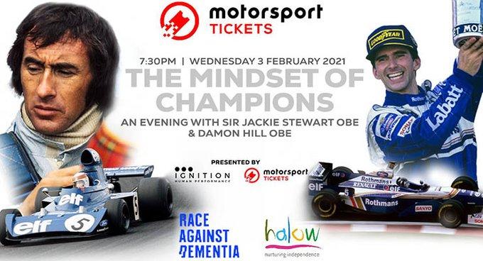 The Mindset of Champions: serata per beneficenza con Sir Jackie Stewart e Damon Hill