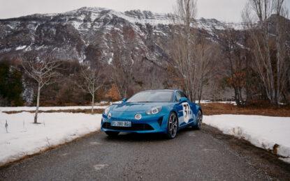 Ocon e Alpine A110S al Rallye Monte-Carlo 2021