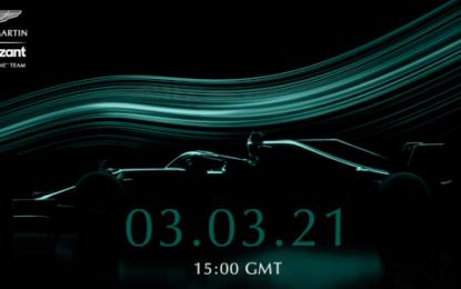 Il 3 marzo si svela l'Aston Martin di Vettel e Stroll