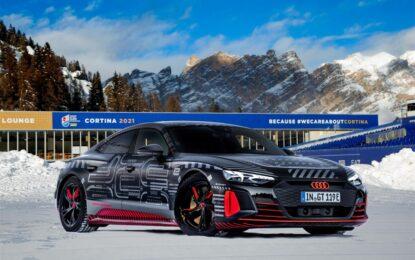 Debutto a Cortina per Audi RS e-tron GT prototipo