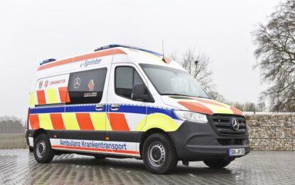 eSprinter : la prima ambulanza completamente elettrica